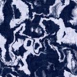Indigo blue batik dyed effect texture background. Seamless japanese repeat pattern swatch. Painterly marble motif bleach