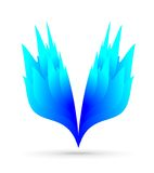 Indigo blue fire. Blue beautiful indigo fire wings Stock Photo