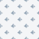 Indigo blue hand drawn seamless pattern Stock Images