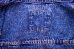Indigo blue jeans texture for textile Stock Image