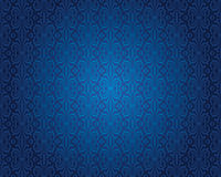 Indigo blue vintage wallpaper background pattern design Stock Images