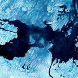 Indigo and blue watercolor background. Stock Photos