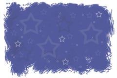 Indigo blue stars winter Christmas background. Indigo blue winter Christmas background with stars pattern, New Year digital illustration Stock Image