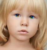Indigo Child With A Magic Rainbow Eyes Royalty Free Stock Photography