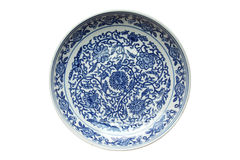 Indigo china ware Stock Photos