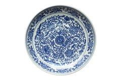 Indigo china ware Stock Photos