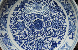 Indigo china ware Stock Image