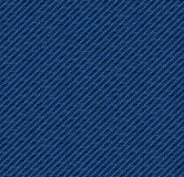Indigo denim. Pattern including seamless sample in swatch panel Royalty Free Stock Photography