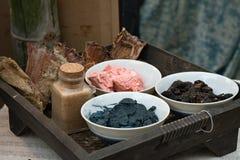 Indigo dye pigment Stock Photography