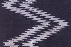 Indigo-dyed fabric. For background stock image