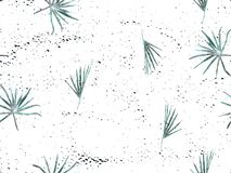 Indigo exotic pattern. Monstera leaves and hibiscus flowers in summer print.  Saturated large floral swimwear print. Horizontal california natural texture vector illustration