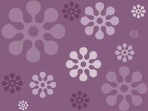 Indigo floarl design Stock Photo
