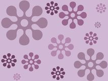 Indigo floral design Stock Images