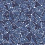 Indigo Geometric Vector Pattern Stock Photos