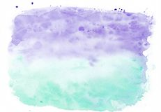 Indigo lavander and teal persian green mixed watercolor horizontal gradient background. It`s useful for greeting cards, valen. Tines, letters. Abstract art style stock illustration