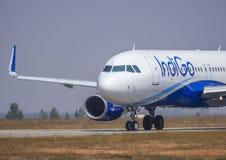 Indigo luchtvaartlijn-Voorraad beeld Royalty-vrije Stock Afbeelding