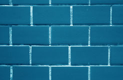 Indigo, Navy Blue Colored Bricks Wall, for Background, Texture Royalty Free Stock Photo