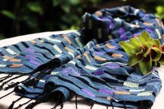 Indigo scraf weaving Chiang mai Thailand Stock Image