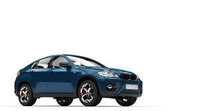 Indigo SUV Stock Photography