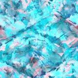 Brush strokes background. Indigo watercolor seamless pattern. Brush strokes background. Vintage abstract summer acrylic endless tile. Watercolour square liquid royalty free illustration