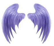 Indigo Wings Royalty Free Stock Photo
