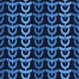 Indigoblå blåa abstrakta organiska stam- band S?ml?s bakgrund f?r vektormodell Utdragen texturerad stil f?r hand ethnic vektor illustrationer