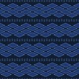 Indigoblå blåa abstrakta organiska stam- former S?ml?s bakgrund f?r vektormodell Utdragen texturerad stil f?r hand ethnic royaltyfri illustrationer
