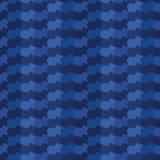 Indigoblå blåa abstrakta organiska vågband Sömlös bakgrund för vektorlutningmodell Utdragna krabba linjer diagram för hand vektor illustrationer