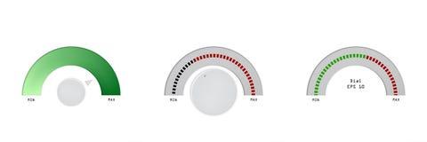 Indikator, Skala, Indikator, waagerecht ausgerichteter Entwurf des gesetzten Vektormaßillustrations-Meters stock abbildung
