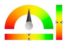 Indikator vom kritischen Niveau zum Stall vektor abbildung