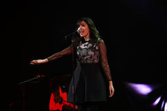 Indila konsert Royaltyfria Foton