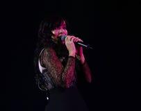 Indila konsert Fotografering för Bildbyråer