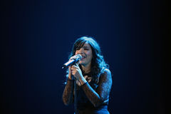 Indila konsert Arkivbild