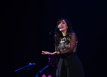 Indila-Konzert Lizenzfreies Stockfoto