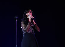 Indila-Konzert Lizenzfreies Stockbild