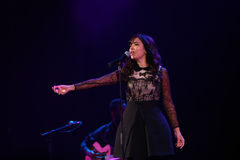 Indila-Konzert Lizenzfreie Stockfotografie