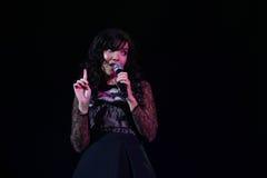 Indila-Konzert Stockfoto