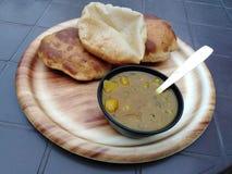 Indin chleb z spiced sausse goa fotografia stock