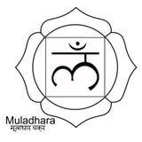 Indio del muladhara del colorante del ejemplo del vector del chakra libre illustration