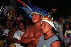 Indio nativo del Brasil Fotos de archivo