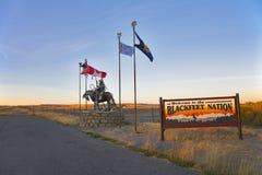Indios de los blackfeet de la reservación foto de archivo