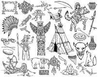 Indios de Norteamérica y su manera de vida Imágenes de archivo libres de regalías
