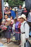 Indios maya at the market of Chichicastenango Royalty Free Stock Image
