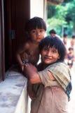 Indios nativos Awa Guaja del Brasil Fotografía de archivo libre de regalías