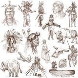 Indios y oeste salvaje stock de ilustración
