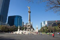 Indipendence monument, Mexico - stad Royaltyfria Foton