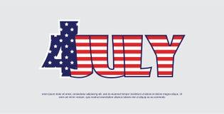 Indipendenza americana Day-4th del bnner di luglio illustrazione festiva di vettore illustrazione di stock