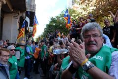 Indipendenza Catalogna 20/09/2017 di dimostrazione Fotografia Stock