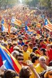 Indipendenza esigente di raduno per la Catalogna Immagini Stock