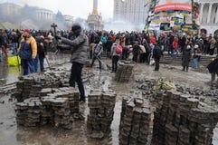 Indipendenza Kiev quadrata Fotografia Stock Libera da Diritti
